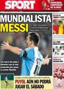 Portada diario Sport del 12 de Septiembre de 2013