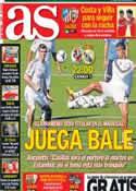 Portada diario AS del 14 de Septiembre de 2013