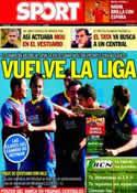 Portada diario Sport del 14 de Septiembre de 2013