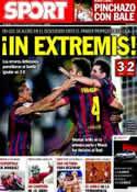 Portada diario Sport del 15 de Septiembre de 2013