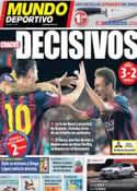 Portada Mundo Deportivo del 15 de Septiembre de 2013