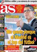 Portada diario AS del 16 de Septiembre de 2013