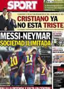 Portada diario Sport del 16 de Septiembre de 2013
