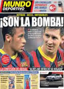 Portada Mundo Deportivo del 16 de Septiembre de 2013