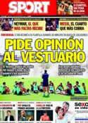Portada diario Sport del 17 de Septiembre de 2013