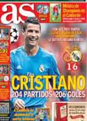 Portada diario AS del 18 de Septiembre de 2013
