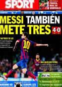 Portada diario Sport del 19 de Septiembre de 2013