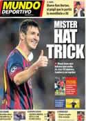 Portada Mundo Deportivo del 20 de Septiembre de 2013