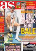 Portada diario AS del 22 de Septiembre de 2013