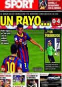 Portada diario Sport del 22 de Septiembre de 2013