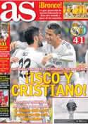 Portada diario AS del 23 de Septiembre de 2013