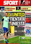 Portada diario Sport del 23 de Septiembre de 2013