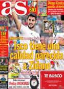 Portada diario AS del 25 de Septiembre de 2013