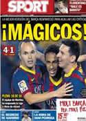Portada diario Sport del 25 de Septiembre de 2013