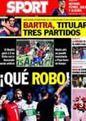 Portada diario Sport del 26 de Septiembre de 2013