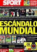 Portada diario Sport del 27 de Septiembre de 2013
