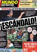 Portada Mundo Deportivo del 27 de Septiembre de 2013