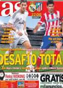 Portada diario AS del 28 de Septiembre de 2013