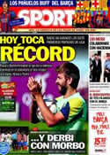 Portada diario Sport del 28 de Septiembre de 2013