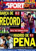 Portada diario Sport del 29 de Septiembre de 2013