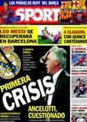 Portada diario Sport del 30 de Septiembre de 2013