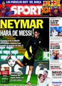 Portada diario Sport del 1 de Octubre de 2013