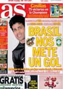 Portada diario AS del 4 de Octubre de 2013