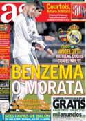 Portada diario AS del 5 de Octubre de 2013
