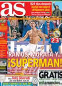 Portada diario AS del 6 de Octubre de 2013