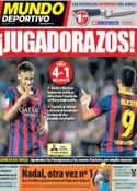 Portada Mundo Deportivo del 6 de Octubre de 2013