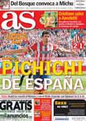 Portada diario AS del 7 de Octubre de 2013