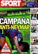 Portada diario Sport del 7 de Octubre de 2013