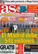 Portada diario AS del 8 de Octubre de 2013