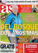 Portada diario AS del 9 de Octubre de 2013