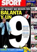 Portada diario Sport del 9 de Octubre de 2013