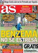 Portada diario AS del 10 de Octubre de 2013