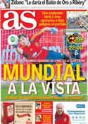 Portada diario AS del 11 de Octubre de 2013