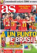 Portada diario AS del 12 de Octubre de 2013
