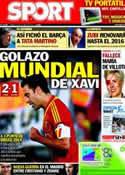 Portada diario Sport del 12 de Octubre de 2013