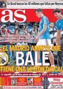 Portada diario AS del 13 de Octubre de 2013