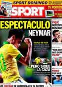 Portada diario Sport del 13 de Octubre de 2013