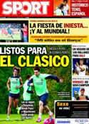 Portada diario Sport del 15 de Octubre de 2013