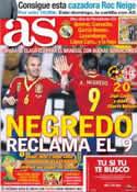 Portada diario AS del 16 de Octubre de 2013