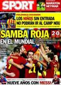 Portada diario Sport del 16 de Octubre de 2013
