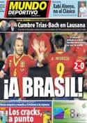 Portada Mundo Deportivo del 16 de Octubre de 2013