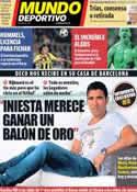 Portada Mundo Deportivo del 17 de Octubre de 2013