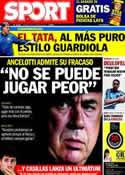 Portada diario Sport del 18 de Octubre de 2013