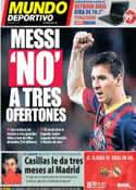 Portada Mundo Deportivo del 18 de Octubre de 2013