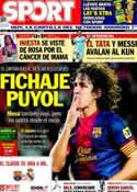 Portada diario Sport del 19 de Octubre de 2013