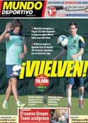 Portada Mundo Deportivo del 19 de Octubre de 2013